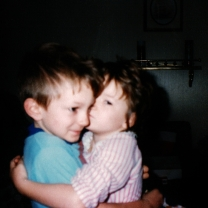 My two oldest children when they were young.