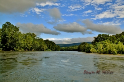 Sky Watch Friday The Shenandoah River Flowing Under Fluffy Clouds