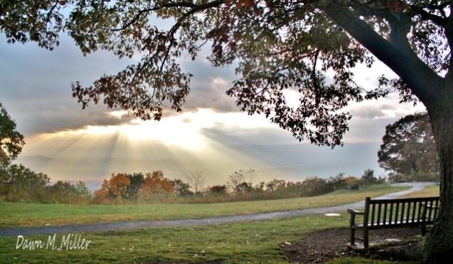 Autumn Sunset on Dickey Ridge(w)