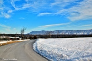 Vansihing Curvy Leading Snow Country Road Lines# (2)